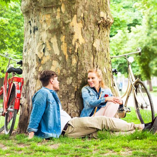Entspannt Fahrradfahren