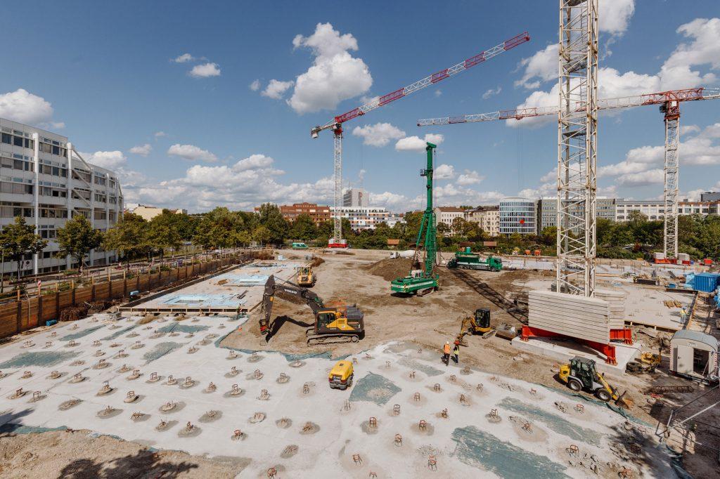 Die Baustelle des Charlottenbogen im August 2019